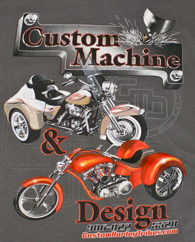 Custom machine trike design