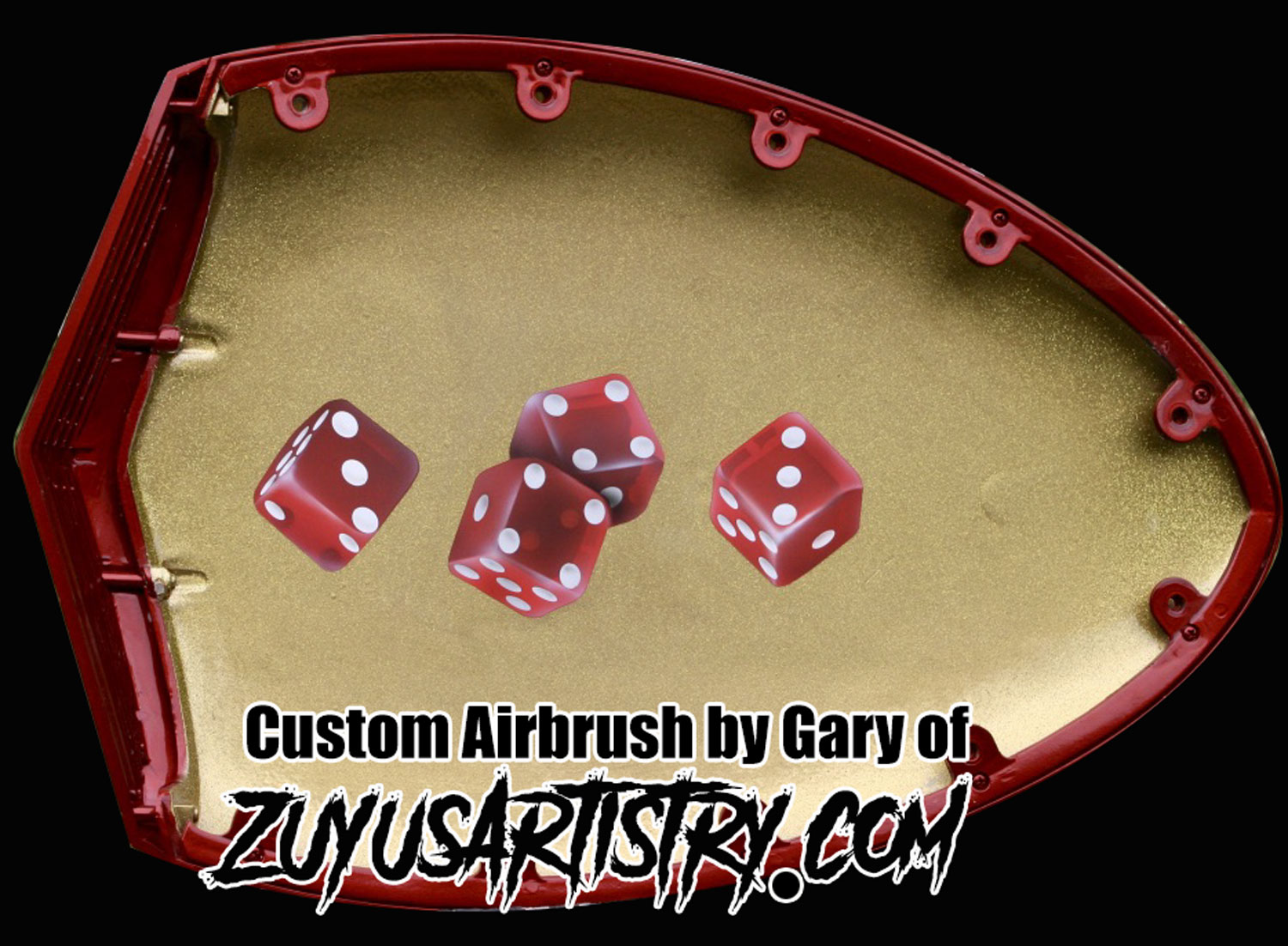 airbrushed dice