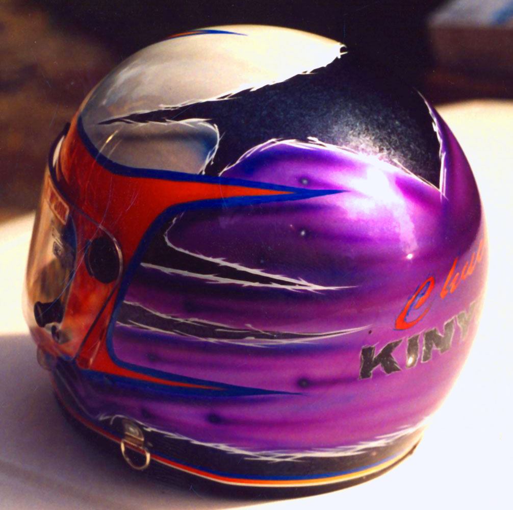 road race custom painte helmet