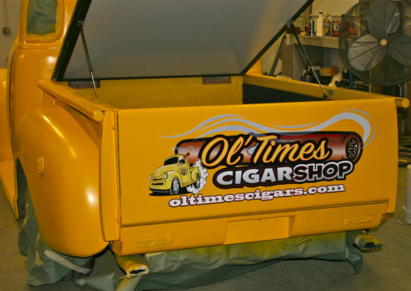 Ol Times Cigars truck tailgate