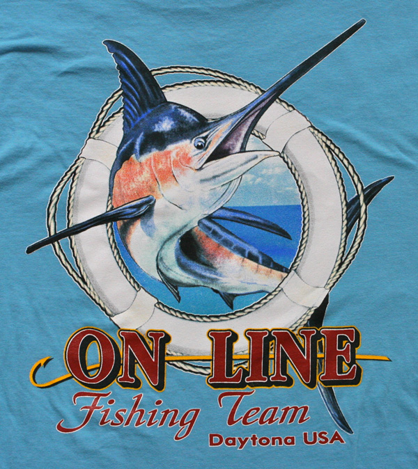 Marlin fishing shirt design