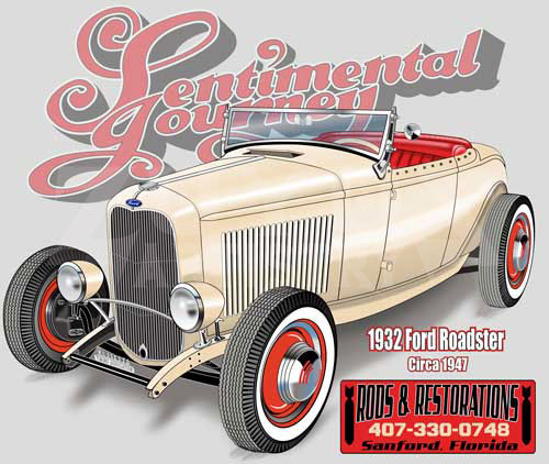 Chuck burns rods and restorations 32 roadster