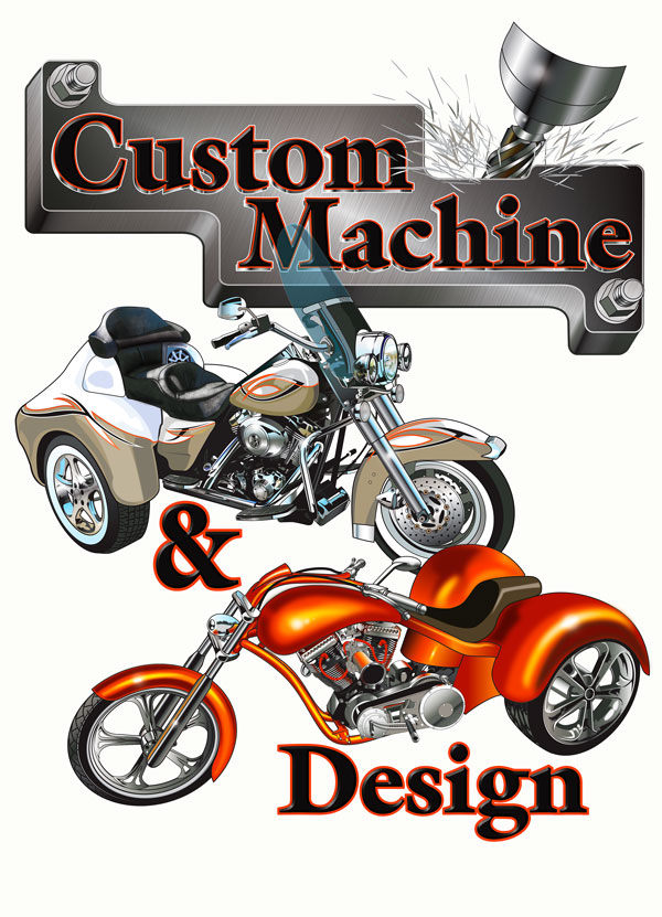 Custom Machine trike digital art