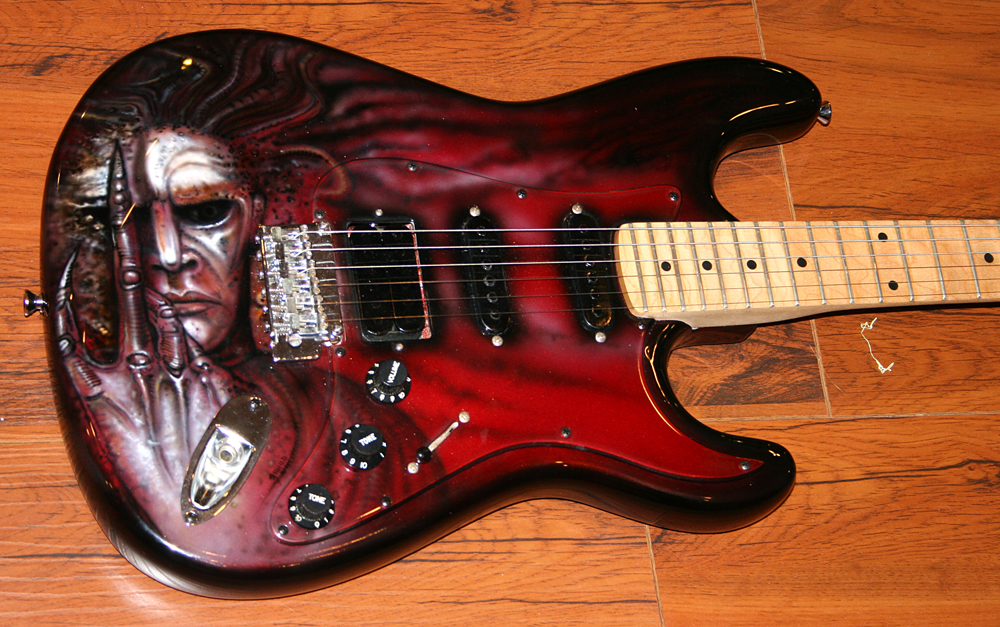 Giger tribute future kill kramer guitar