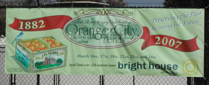 Orange City 125th anniversary banner