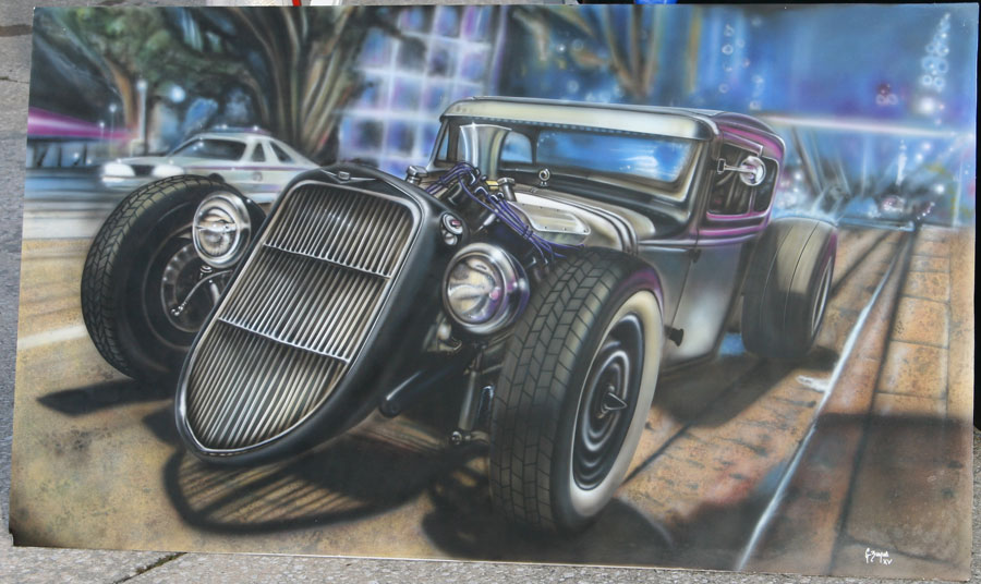Airbrushed Murals On Cars Amp Trucks