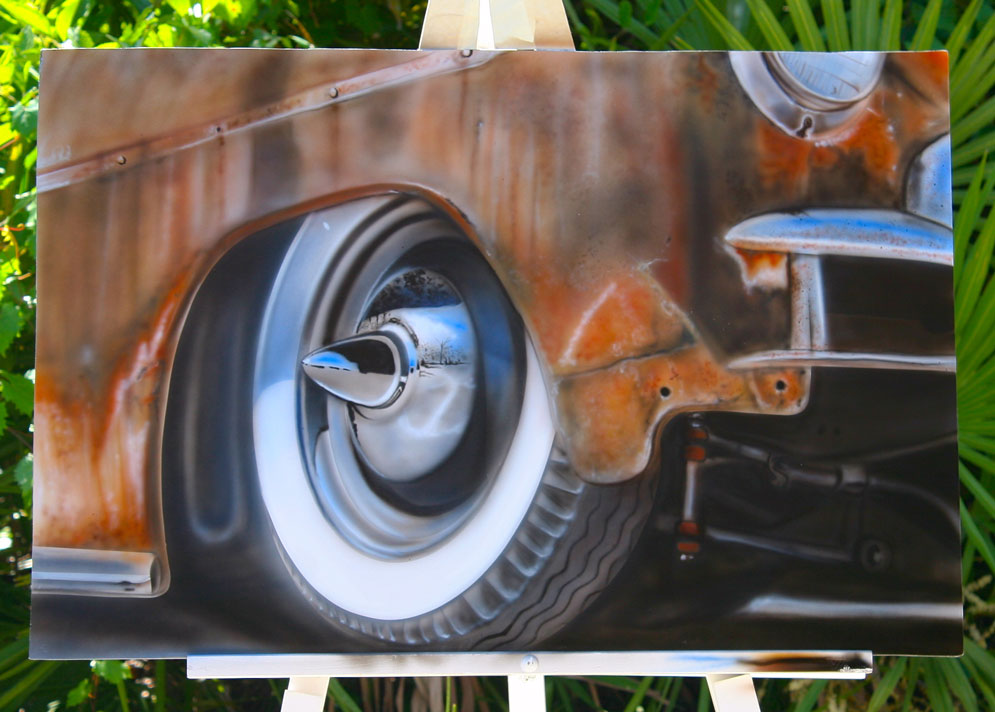Central florida mural airbrush artist for Airbrush mural painting